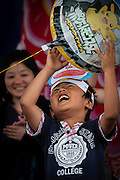 A little boy chases a baloon during the 2012 Japan Festival in Lisbon