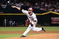 PHOENIX, AZ - JULY 04:  Archie Bradley #25 of the Arizona Diamondbacks delivers a pitch in the second inning against the San Diego Padres at Chase Field on July 4, 2016 in Phoenix, Arizona.  (Photo by Jennifer Stewart/Getty Images)