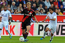 23.10.2011,  BayArena, Leverkusen, GER, 1.FBL, Bayer 04 Leverkusen vs Schalke 04, im Bild.Simon Rolfes (Leverkusen #6) gegen Raul (Schalke #7)..// during the 1.FBL, Bayer Leverkusen vs Schalke 04 on 2011/10/23, BayArena, Leverkusen, Germany. EXPA Pictures © 2011, PhotoCredit: EXPA/ nph/  Mueller       ****** out of GER / CRO  / BEL ******