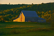 Barn at sunset, Near Hartland, New Brunswick, Canada