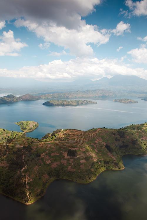 Lakes Bulera (right) and Rohonda (left), Rwanda.