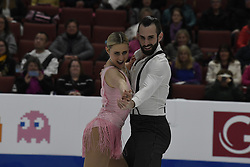 February 8, 2019 - Anaheim, California, U.S - Ashley Cain an timothy Leduc from the USA competes in the Pairs Short Program during the ISU - Four Continents Figure Skating Championships, at the Honda Center in Anaheim California, February 5-10, 2019 (Credit Image: © Dave Safley/ZUMA Wire)