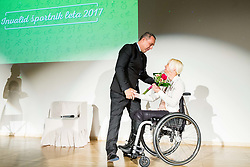 Damijan Lazar and Mateja Pintar during Slovenian Disabled Sports personality of the year 2017 event, on December 6, 2017 in Austria Trend Hotel, Ljubljana, Slovenia. Photo by Vid Ponikvar / Sportida