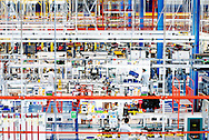 Pomigliano d'Arco, Italia - 10 maggio 2012. Una veduta dell'interno dello stabilimento FIAT Giovanbattista Vico di Pomigliano d'Arco..Ph. Roberto Salomone Ag. Controluce.ITALY - A view of the Giovanbattista Vico FIAT factory in Pomigliano d'Arco on May 10, 2012.