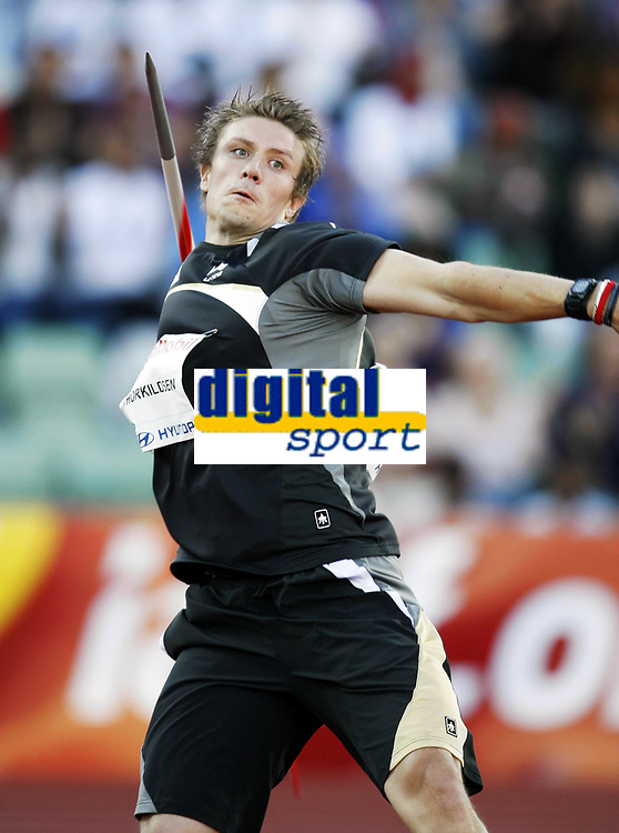 Friidrett, 4. juni 2010,  Diamond League , Bislett Games Oslo<br /> <br /> <br /> Andreas Thorkildsen , Norge i spyd