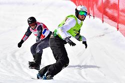 PATMORE Simon, SB-UL, AUS, MAYRHOFER Patrick, AUT, Snowboard Cross at the WPSB_2019 Para Snowboard World Cup, La Molina, Spain