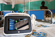 The hospital ultra sound V-scanner, used to monitor pregnant mothers which was donated by VSO. The hospital is the biggest in the region delivering on average 500 babies a month, 80 of which are by c-section. Masasi Hospital, Mtwara region. Tanzania.