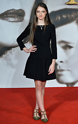 © Licensed to London News Pictures. 21/11/2016. London, UK. RAFFEY CASSIDY attends the Allied UK film premiere at Odeon Leicester Square, London. The film follows two assassins who fall in love during a mission to kill a Nazi official during World War II. Photo credit: Ray Tang/LNP