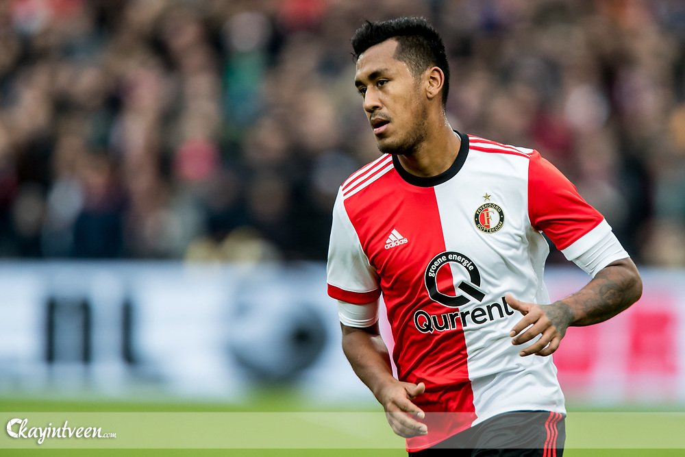 ROTTERDAM - Feyenoord - ADO Den Haag , Voetbal , Seizoen 2017/2018 , Eredivisie , Stadion Feijenoord de Kuip , 28-01-2018 , Feyenoord speler Renato Tapia