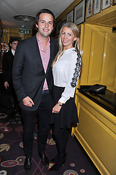 CHARLIE GILKES and ANNEKE VON TROTHA TAYLOR at the Johnnie Walker Blue Label and David Gandy partnership launch party held at Annabel's, 44 Berkeley Square, London on 5th February 2013.