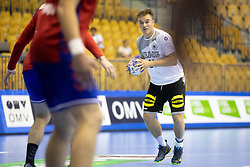Max Neuhaus of Germany during handball match between National teams of Serbia and Germany in Main Round of 2018 EHF U20 Men's European Championship, on July 25, 2018 in Arena Zlatorog, Celje, Slovenia. Photo by Urban Urbanc / Sportida