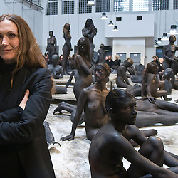 Vanessa Beecroft performance at Mercato Ittico in Naples