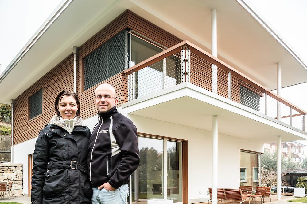 14 FEB 2011 - Riva del Garda (TN) - La prima Casa Passiva certificata in Italia - Raffaella Armanini e Massimo Caceffo :-: First certified Passive House in Italy