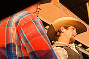 26 NOVEMBER 2011 - CHANDLER, AZ:    A bullrider waits to compete at the Grand Canyon Pro Rodeo Association (GCPRA) Finals at Rawhide Western Town in west Chandler, AZ, about 20 miles from Phoenix Saturday. The GCPRA Finals is the last rodeo of the GCPRA season. The GCPRA is a professional rodeo association based in Arizona.   PHOTO BY JACK KURTZ