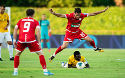 Ante Živković of Aluminij vs Ovbokha Agboyi of Bravo during football match between NK Bravo and NK Aluminij in 5th Round of Prva liga Telekom Slovenije 2019/20, on August 9, 2019 in Sports park ZAK, Ljubljana, Slovenia. Photo by Vid Ponikvar / Sportida