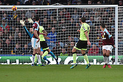 Bournemouth Midfielder, Dan Gosling (4) shoots  during the Premier League match between Burnley and Bournemouth at Turf Moor, Burnley, England on 10 December 2016. Photo by Mark Pollitt.