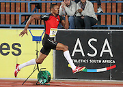 PRETORIA, SOUTH AFRICA, Friday 20 April 2012, Khotso Mokoena in the long jump during the Yellow Pages Series 3 held at the Absa Tuks stadium..Photo by Roger Sedres/ImageSA/ASA