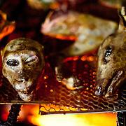 Formosan Maqaque and barking deer(Reeves muntjac) cook on barbeque in Maya village, Ming Chuan, Namasiya Township, Kaoshiung County, Taiwan