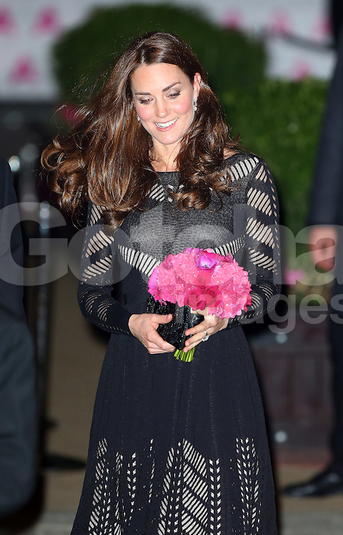 Catherine, Duchess of Cambridge attends the Action on Addiction Autumn Gala Evening at L'Anima in London, UK. 23/10/2014<br />BYLINE MUST READ : JAMESY/GOTCHA IMAGES<br /><br />Copyright by &copy; Gotcha Images Ltd. All rights reserved.<br />Usage of this image is conditional upon the acceptance <br />of Gotcha Images Ltd, terms and conditions available at<br />www.gotchaimages.com