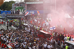September 2, 2018 - Monza, Italy - Motorsports: FIA Formula One World Championship 2018, Grand Prix of Italy, .Fans during Podium ceremony  (Credit Image: © Hoch Zwei via ZUMA Wire)
