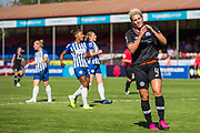 Millie Bright (Chelsea) showing her frustration following her failed attempt at goal during the FA Women's Super League match between Brighton and Hove Albion Women and Chelsea at The People's Pension Stadium, Crawley, England on 15 September 2019.