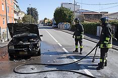 20170310 INCENDIO AUTO FIAT UNO WEEKEND VIA BRIOSI