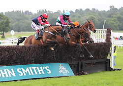 Sharp Rise ridden by Aidan Coleman (R) before winning the 4.35 The bet365 Handicap Steeple Chase - Mandatory by-line: Jack Phillips/JMP - 26/06/2016 - HORSE RACING - Uttoxeter Racecourse - Uttoxeter, England - John Smith's Summer Cup