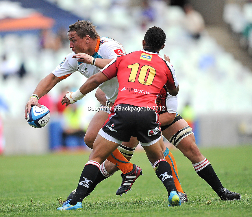Coenie Oosthuizen from Toyota Cheetahs. Super Rugby - Free State Stadium aka Vodacom Park Stadium, Bloemfontein, South Africa. 7 April 2012.<br /> &copy;DeneseLups/BackpagePix