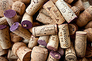 Corks from wine bottles from Spain and France
