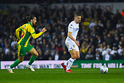 Kalvin Phillips of Leeds United (23) gets away from Jay Rodriguez of West Bromwich Albion (19) during the EFL Sky Bet Championship match between Leeds United and West Bromwich Albion at Elland Road, Leeds, England on 1 March 2019.