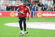Sunderland forward Jermaine Defoe during the Capital One Cup match between Sunderland and Manchester City at the Stadium Of Light, Sunderland, England on 22 September 2015. Photo by Simon Davies.