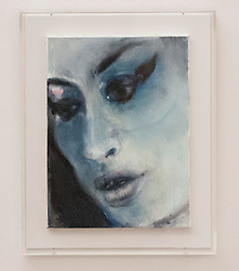 Portrait of Amy Winehouse..Amy-Blue by Marlene Dumas, at the National Portrait Gallery, London, UK, November 26, 2012. Photo by i-Images.