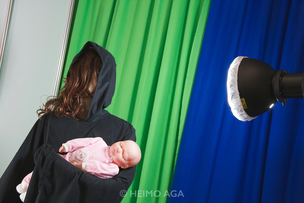 Photokina 2010, World's biggest bi-annual photo fair. Patient models.