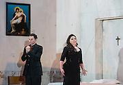 Rodelinda<br /> music by Handel <br /> Nicola Francesco Haym & Antonio Salvi <br /> directed by Richard Jones<br /> English National Opera <br /> rehearsal <br /> 26th February 2014 <br /> <br /> Rebecca Evans as Rodelinda <br /> <br /> iestyn Davies as Bertarido <br /> <br /> Matt Casey as Flavio <br /> <br /> John Mark Ainsley as Grimoaldo<br /> <br /> Susan Bickley as Eduige<br /> <br /> Richard Burkhard as Garibaldo <br /> <br /> Christopher Ainslie as Unulfo <br /> <br /> <br /> Photograph by Elliott Franks