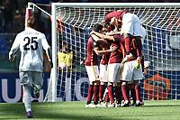 Esultanza Gol Radja Nainggolan Roma Goal celebration 1-0<br /> Roma 24-04-2016 Stadio Olimpico Football Calcio Serie A 2015/2016 AS Roma - Napoli Foto Andrea Staccioli / Insidefoto