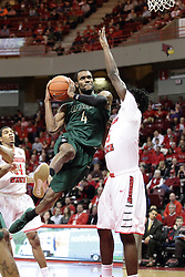 05 December 2015: Robert Brown flies around Roland Griffin(35) heading for the hoop. Illinois State Redbirds host the University of Alabama - Birmingham Blazers at Redbird Arena in Normal Illinois (Photo by Alan Look)