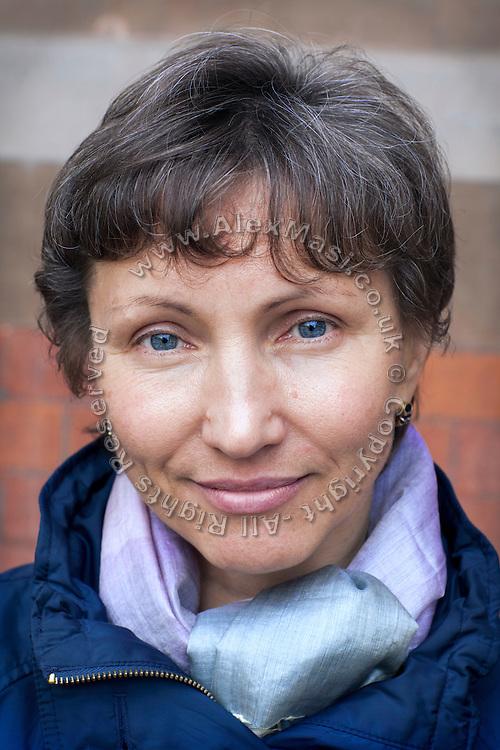 Marina Litvinenko, 51, the widow of poisoned ex-KGB Russian spy Alexander Litvinenko, is portrayed in front of King's Cross Saint Pancreas, London, UK. Alexander Litvinenko was assassinated with radioactive Polonium in London in November 2006.