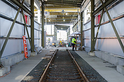 New Haven Rail Yard, Independent Wheel True Facility. CT-DOT Project # 0300-0139, New Haven CT.<br /> Photograph of Construction Progress Photo Shoot 30 on 27 December 2013. One of 52 Images Captured this Submission.