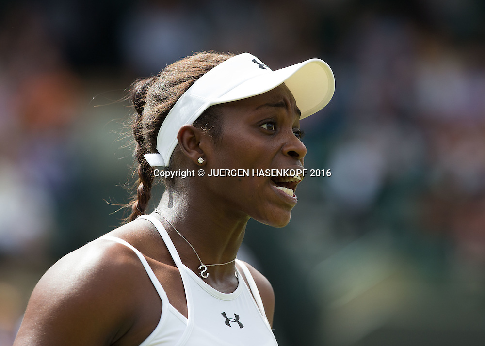 SLOANE STEPHENS (USA) reagiert frustriert, Emotion,<br /> <br /> Tennis - Wimbledon 2016 - Grand Slam ITF / ATP / WTA -  AELTC - London -  - Great Britain  - 3 July 2016.