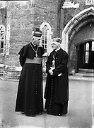 Bishops October Meeting at Maynooth..Cardinal D'Alton, Archbishop of Armagh  and Primate of All Ireland (left)..09/10/1956