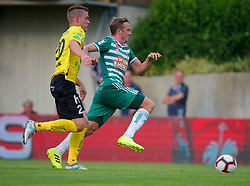 21.07.2019, Sportplatz, Allerheiligen bei Wildon, AUT, OeFB Uniqa Cup, USV Allerheiligen vs SK Rapid Wien, 1. Runde, im Bild Bostjan Bizjak (SV Allerheiligen) und Philipp Schobesberger (SK Rapid Wien) // Bostjan Bizjak (SV Allerheiligen) and Philipp Schobesberger (SK Rapid Wien) during the ÖFB Uniqa Cup, 1st round match between USV Allerheiligen and SK Rapid Wien at the Sportplatz in Allerheiligen bei Wildon, Austria on 2019/07/21. EXPA Pictures © 2019, PhotoCredit: EXPA/ Erwin Scheriau