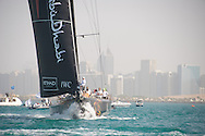 13.01.2012, Abu Dhabi. Volvo Ocean Race, Abu Dhabi Ocean racing boat winner of the in port race