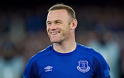 LIVERPOOL, ENGLAND - Thursday, September 28, 2017: Everton's Wayne Rooney with a black eye before the UEFA Europa League Play-Off 1st Leg match between Everton and Apollon Limassol FC at Goodison Park. (Pic by David Rawcliffe/Propaganda)