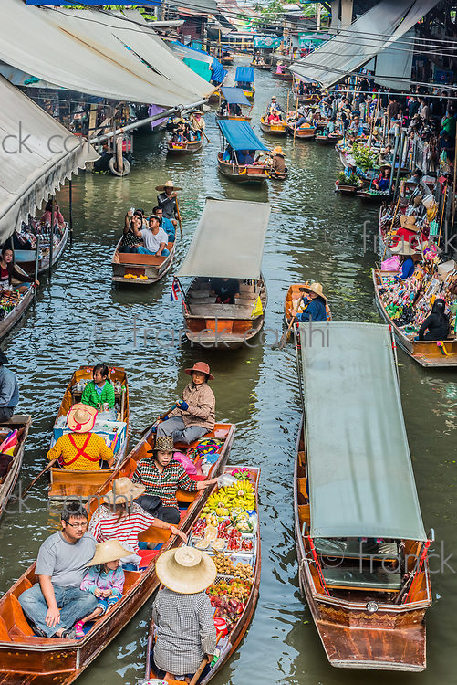 Bangkok, Thailand - December 30, 2013: people at Amphawa Bangkok floating market at Bangkok, Thailand on december 30th, 2013