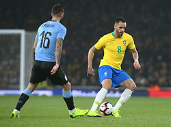 November 16, 2018 - London, England, United Kingdom - London, England - November 16, 2018.Renato Augusto of Brazil .during Chevrolet Brazil Global Tour International Friendly between Brazil and Uruguay at Emirates stadium , Arsenal Football Club, England on 16 Nov 2018. (Credit Image: © Action Foto Sport/NurPhoto via ZUMA Press)