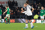 Martyn Waghorn (9)  during the EFL Sky Bet Championship match between Derby County and Sheffield Wednesday at the Pride Park, Derby, England on 11 December 2019.