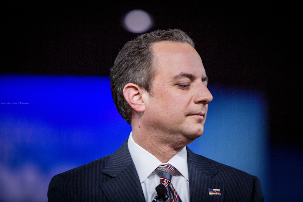 White House Chief of Staff Reince Priebus talks at the CPAC, Conservative Political Action Conference.