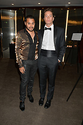 Left to right, PABLO GANGULI and TOMAS AUKSAS at a dinner hosted by Liberatum to honour Francis Ford Coppola held at the Bulgari Hotel & Residences, 171 Knightsbridge, London on 17th November 2014.