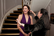 RACHAEL STIRLING; KIM POSTER, First night for 'An Ideal Husband' by Oscar Wilde ÐThe play opened at The Vaudeville Theatre with a party after  Kettners, Soho. 10 November 2010. . -DO NOT ARCHIVE-© Copyright Photograph by Dafydd Jones. 248 Clapham Rd. London SW9 0PZ. Tel 0207 820 0771. www.dafjones.com.<br />