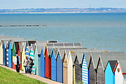 © Licensed to London News Pictures. 14/07/2016<br /> SUNNY WEATHER IN KENT.<br /> Isle of Sheppey in the distance.<br /> People enjoying the sunny weather at Herne Bay in Kent today (14.07.2016)<br /> <br /> (Byline:Grant Falvey/LNP)